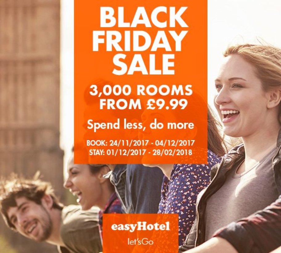 easyHotel Sofia - LOW COST: ЧЕРЕН ПЕТЪК – easyHotel Black Friday Sale 2017 – Разпродажба на 5000 стаи по 12€. Резервирай между 24-11-2017 – 04-12-2017 за периода от 01-12-2017 – 28-02-2018.